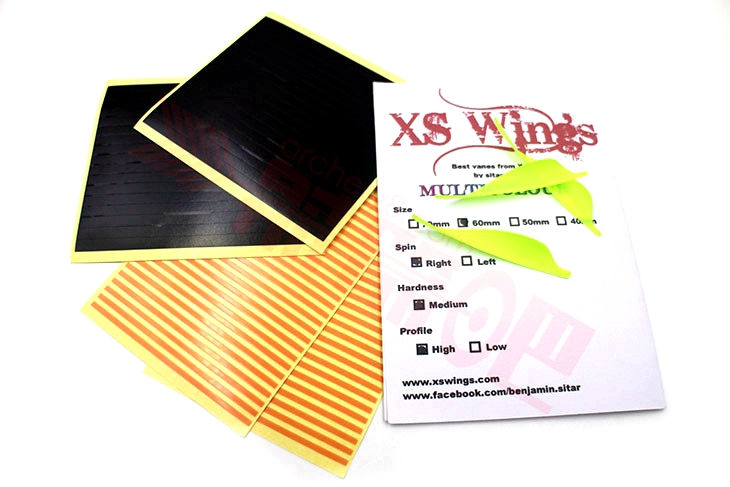 XS WINGS VANES MEDIUM 60MM LOW PROFILE 箭羽 羽毛 旋羽